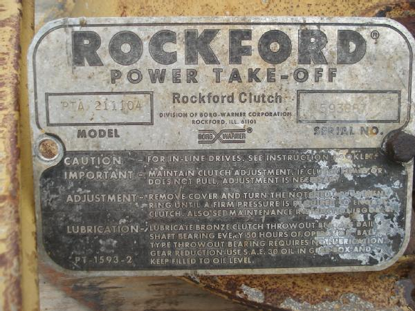 Rockford Power Take Off Clutch : Rockford power take off clutch parts tractor